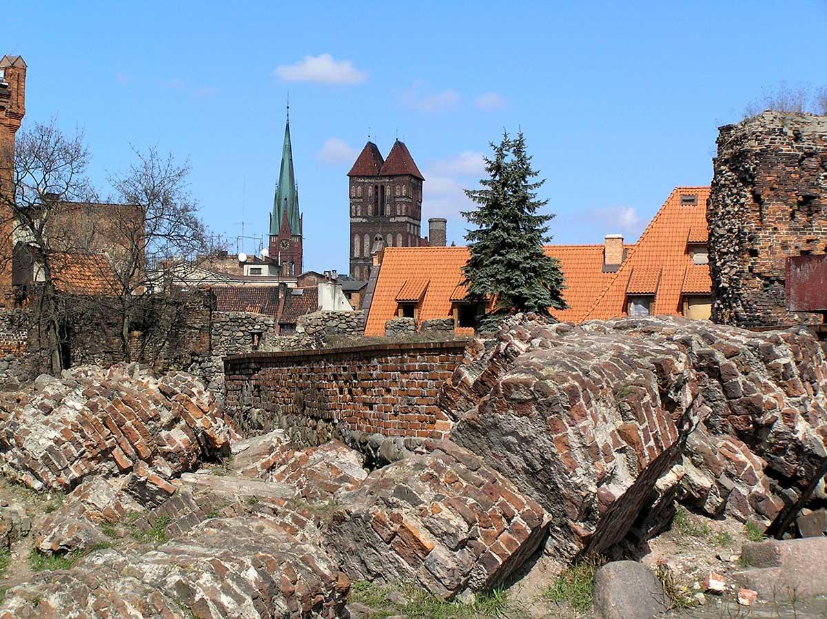 руины крепости в Торуни