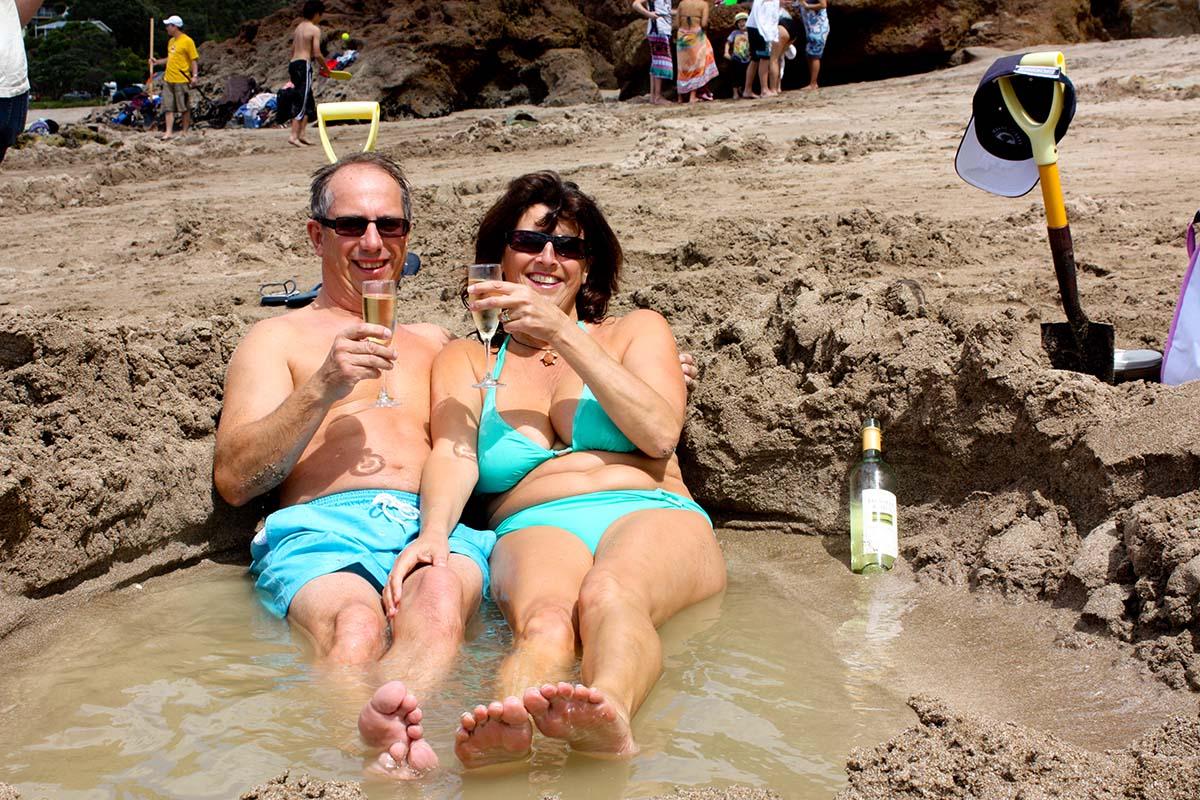 спа-пляж в Новой Зеландии