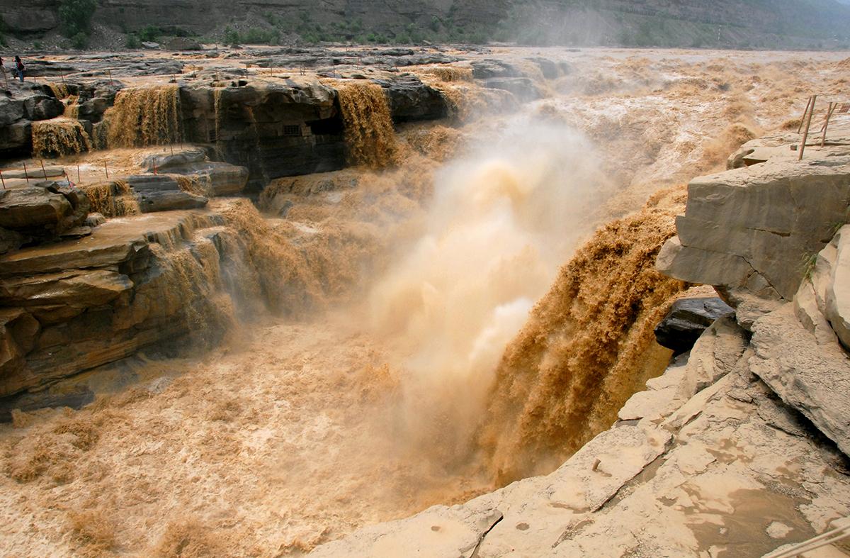 водопад Хукоу, река Хуанхэ, Китай