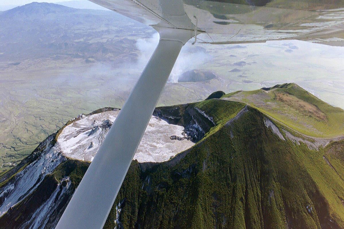 вулкан Оль Дойньо Ленгаи, вид с высоты