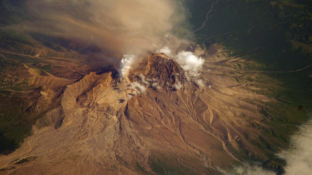 вулкан Шивелуч, Камчатка