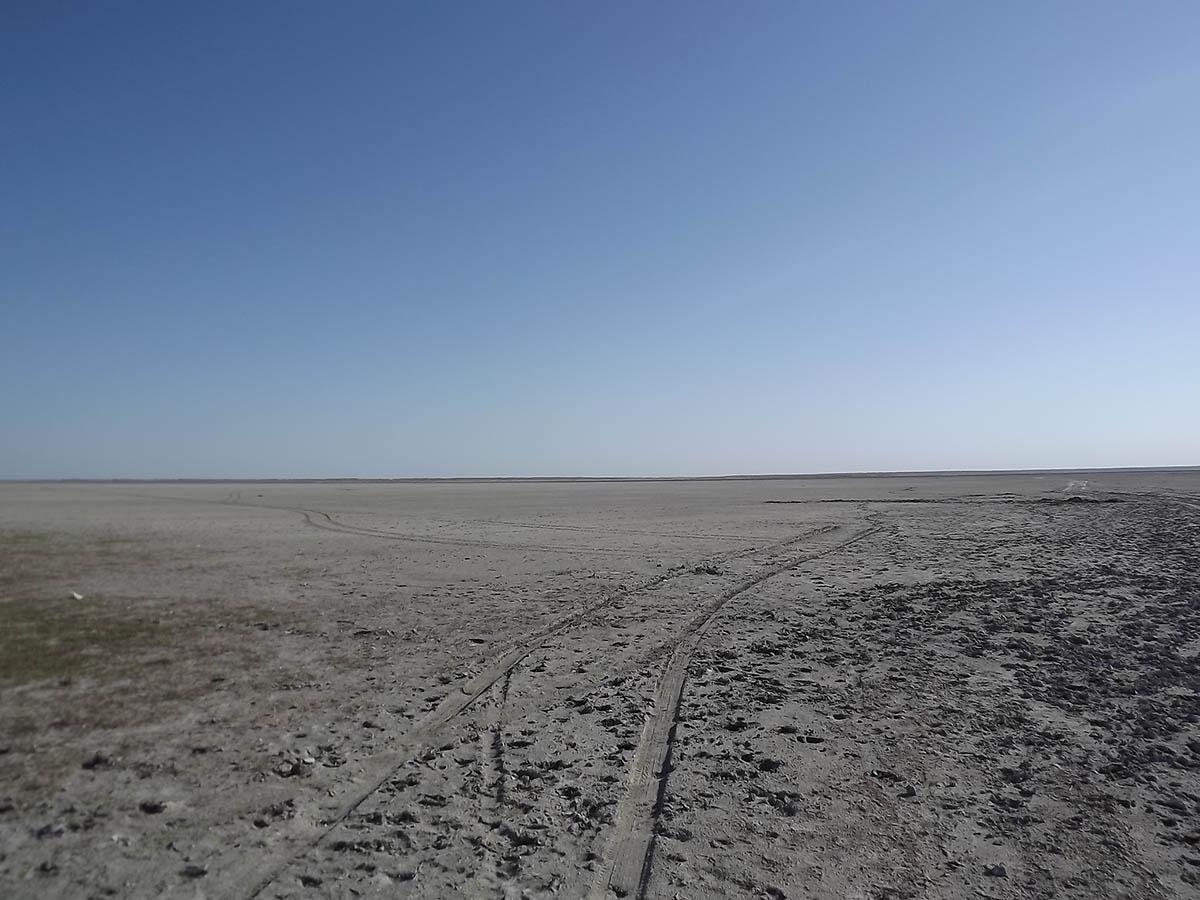 высохшее Ханское озеро в Ейске