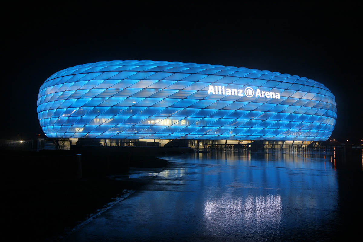 Allianz Arena at night, Munich