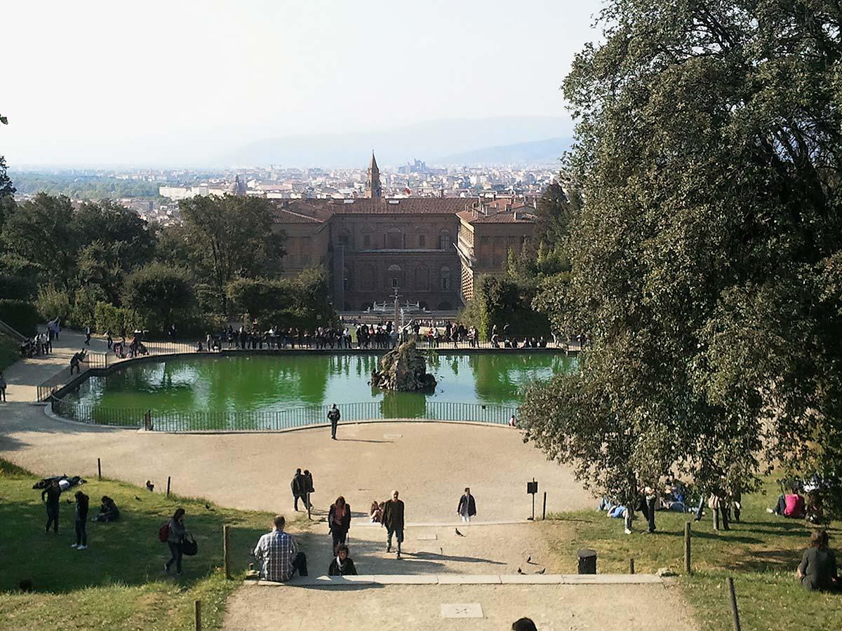 Fontana di Boboli e Palazzo Pitti