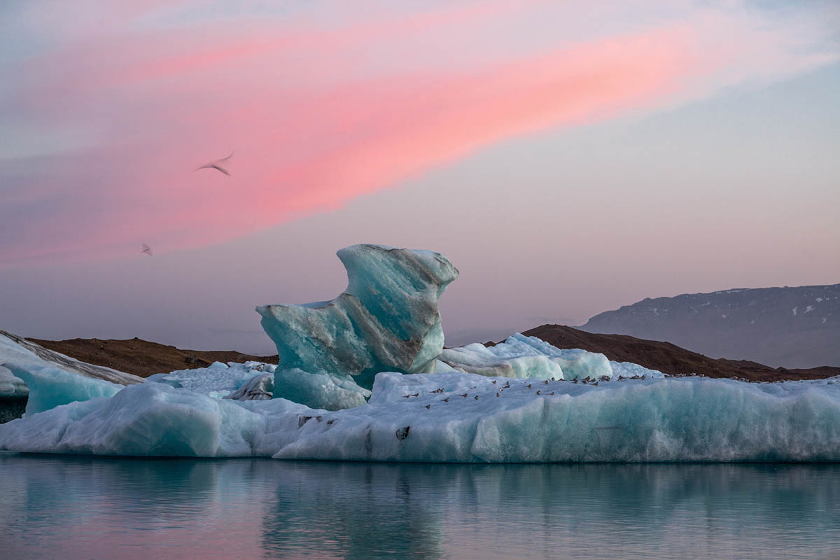 Jokulsarlon at night