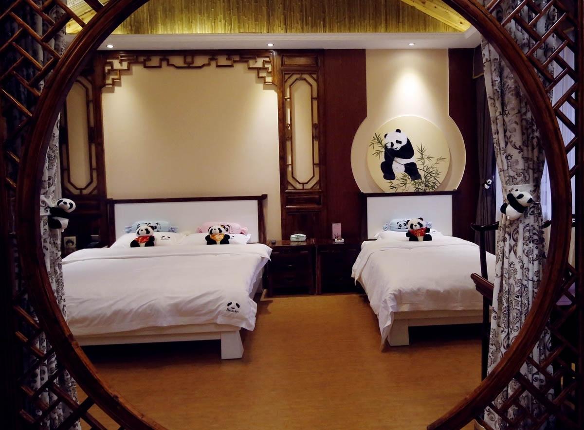Панда-отель, Сычуань, Китай