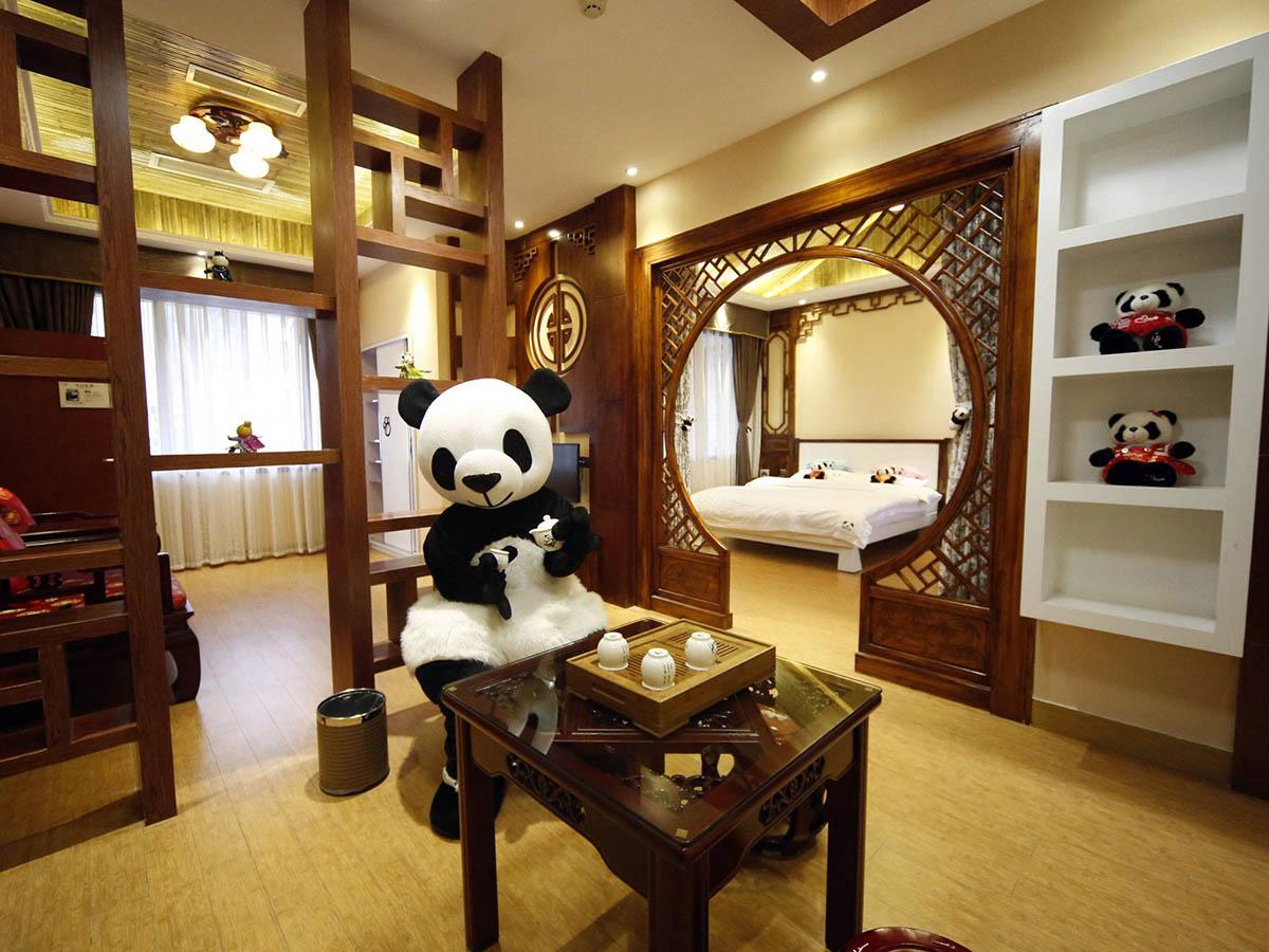 Панда-отель в Китае