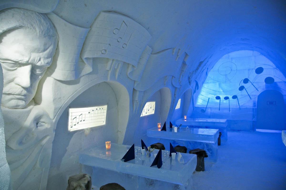 интерьер замка LumiLinna в Финляндии