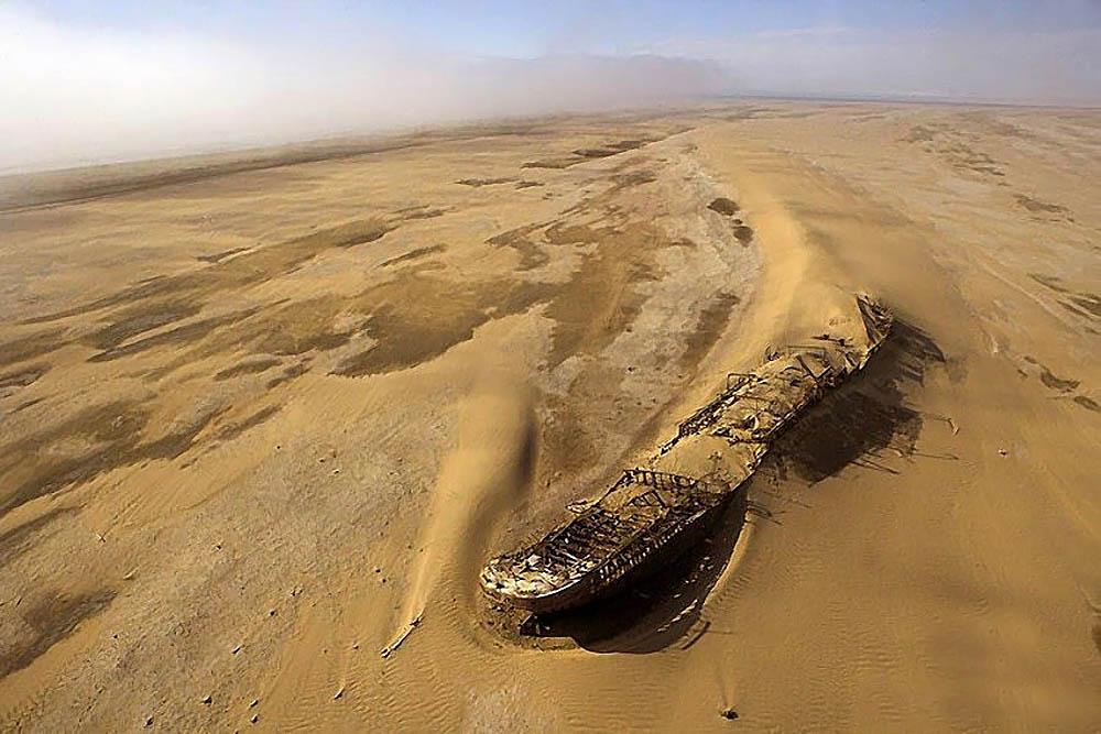 корабль Эдуард Болен, пустыня Намиб, Намибия