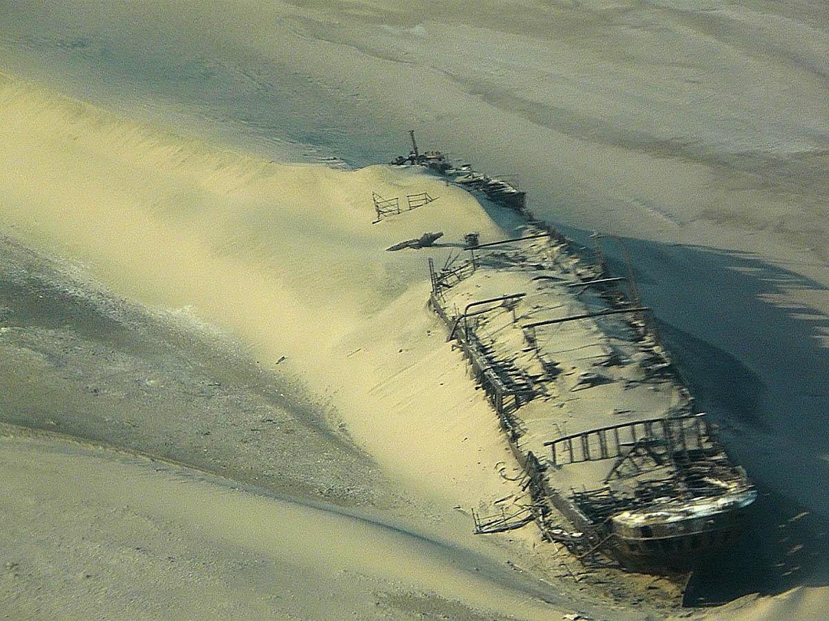 корабль Эдуард Болен, пустыня Намиб