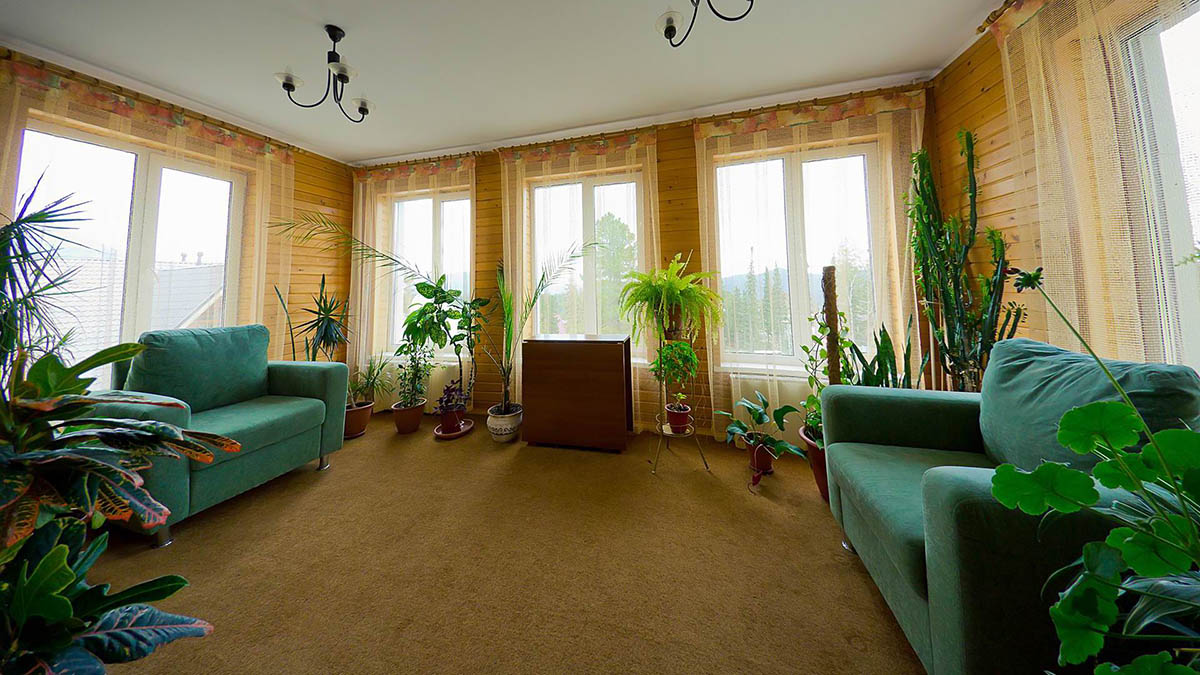люкс с зимним садом, гостиница Кедровая, Шерегеш
