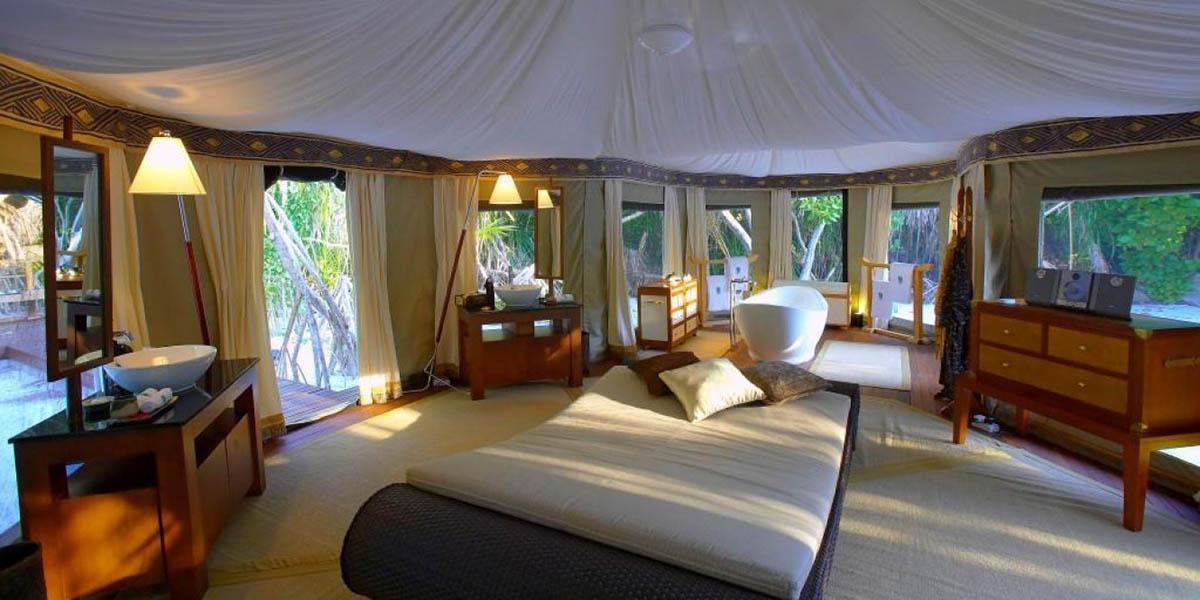 палаточный отель Banyan Tree Madivaru на Мальдивах