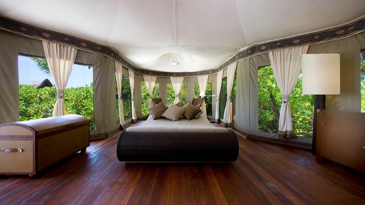 палаточный спа-отель Banyan Tree Madivaru на Мальдивах