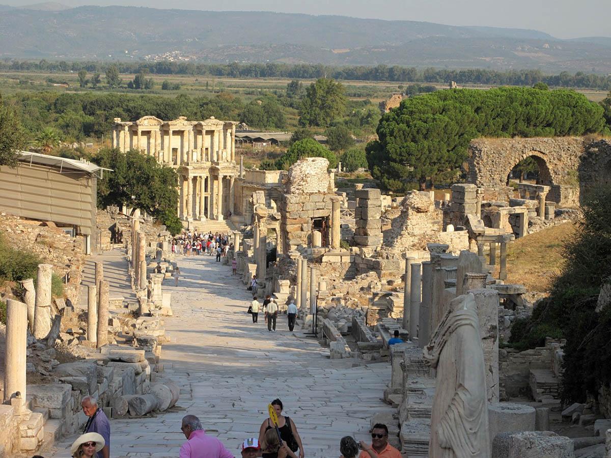 развалины Эфеса в Турции