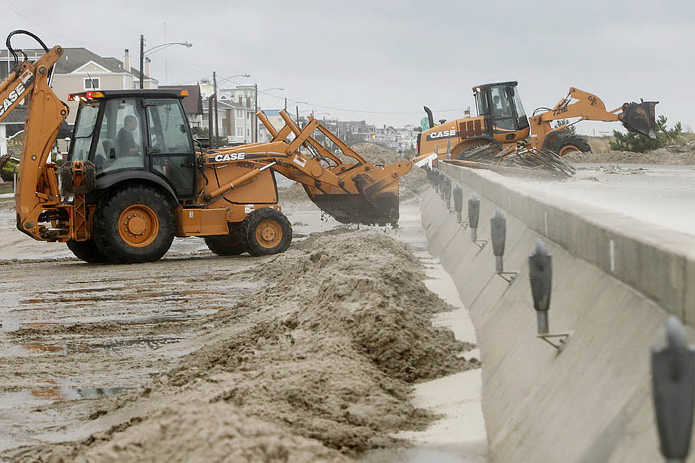 строительство дюн в прибрежной зоне США