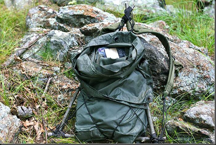 туристический рюкзак из подручных материалов