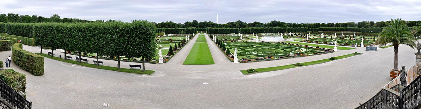 Королевские сады Ганновера (панорама)