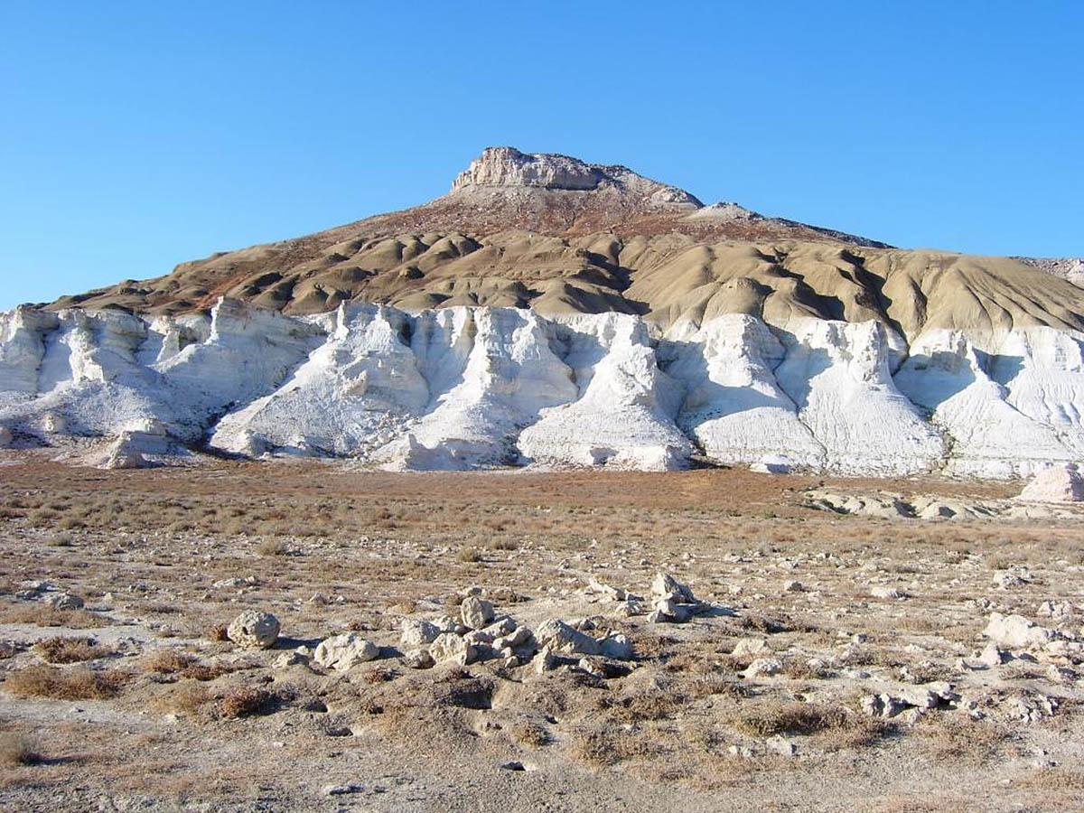 Меловые горы Актау, Атырау, Казахстан