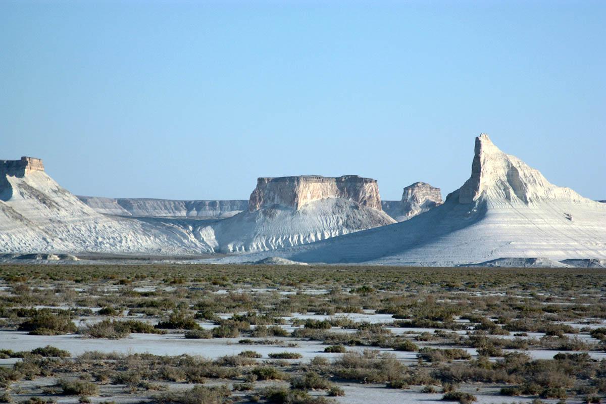 Меловые горы Актау, Казахстан