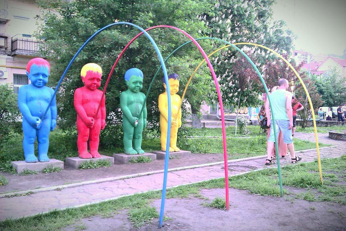Пейзажная аллея в Киеве, Украина