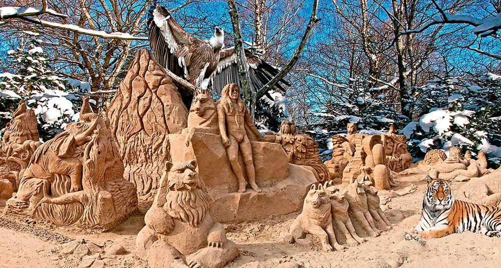 декорации Московского зоопарка
