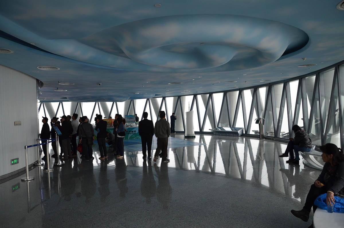 интерьер телебашни Гуанчжоу