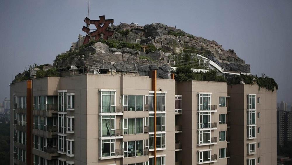 каменная вилла на небоскребе в Пекине, Китай