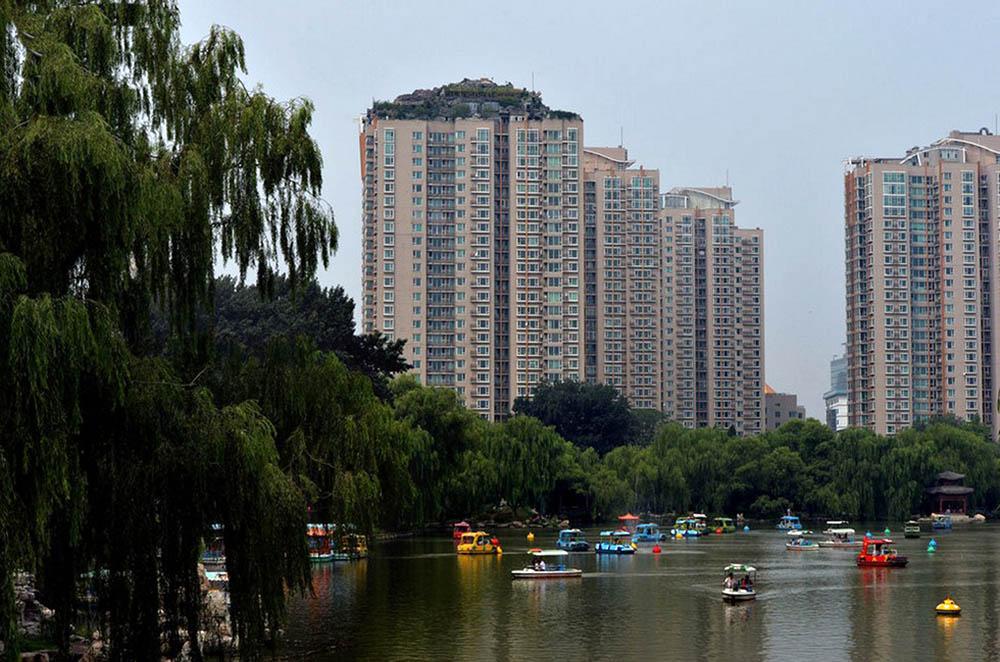 каменная вилла на небоскребе в Пекине