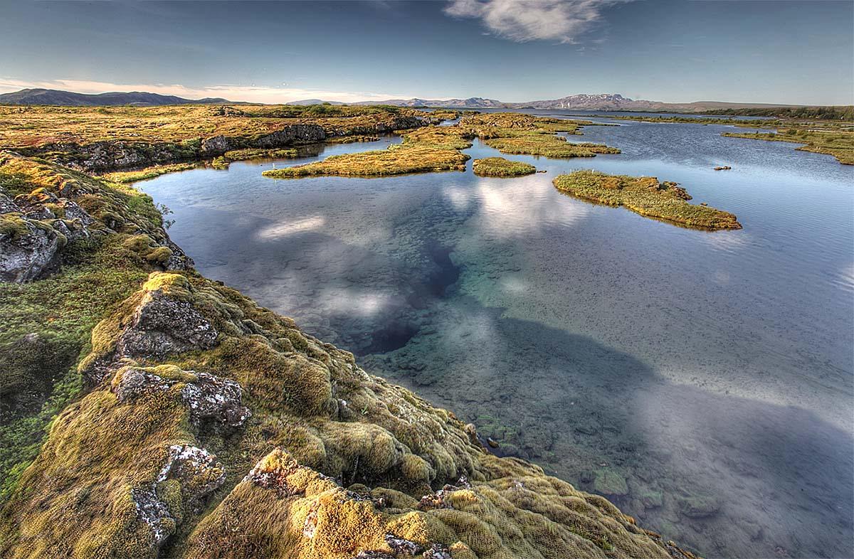 ущелье Силфра, Атлантический разлом, национальный парк Тингвеллир