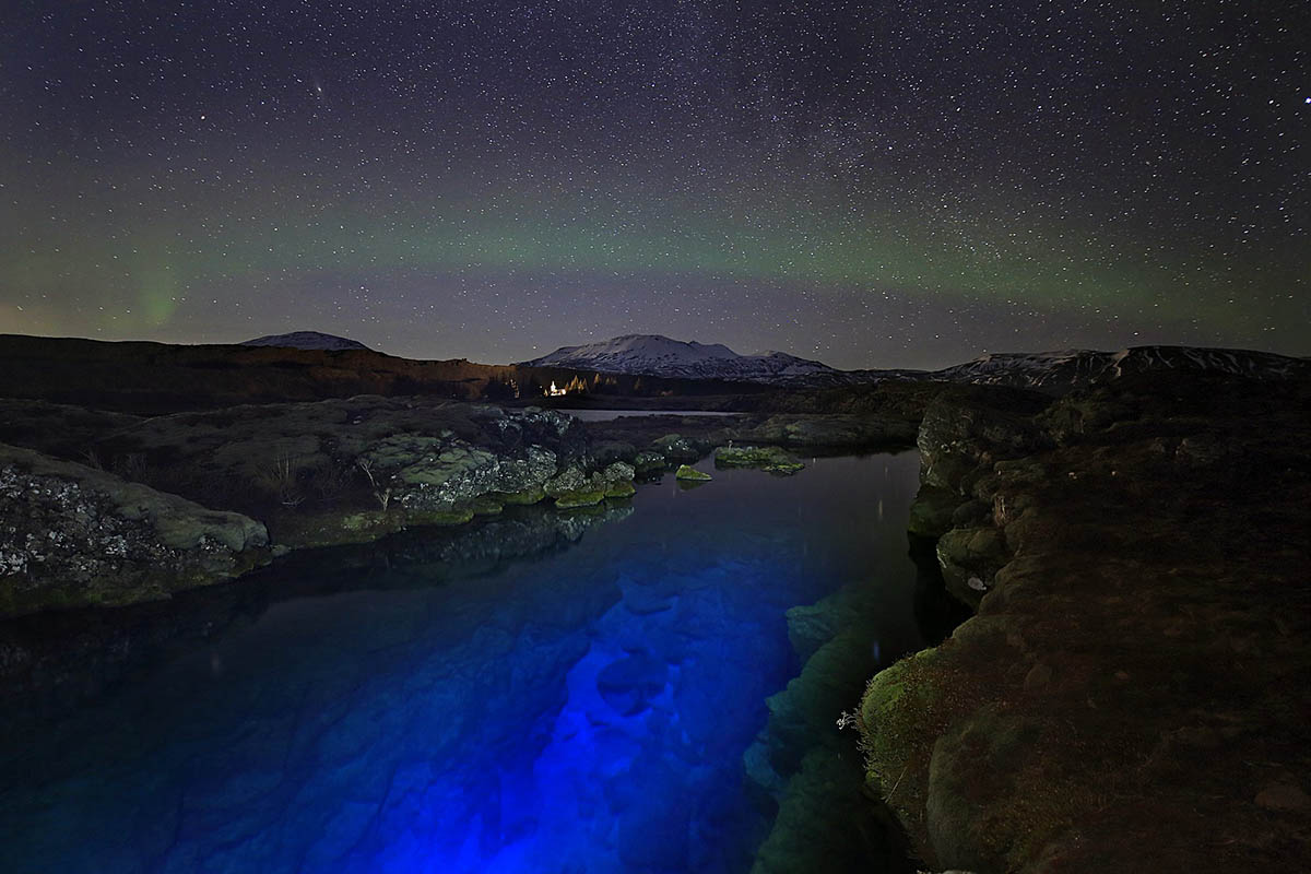 ущелье Силфра, нацпарк Тингвеллир, Исландия