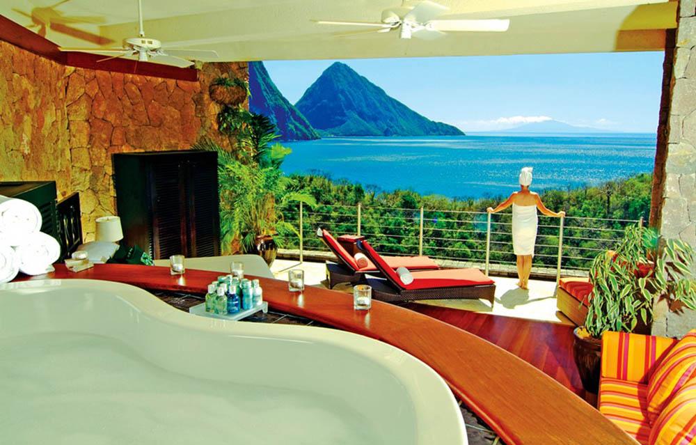вид из номера эко-отеля Anse Chastanet Resort 5