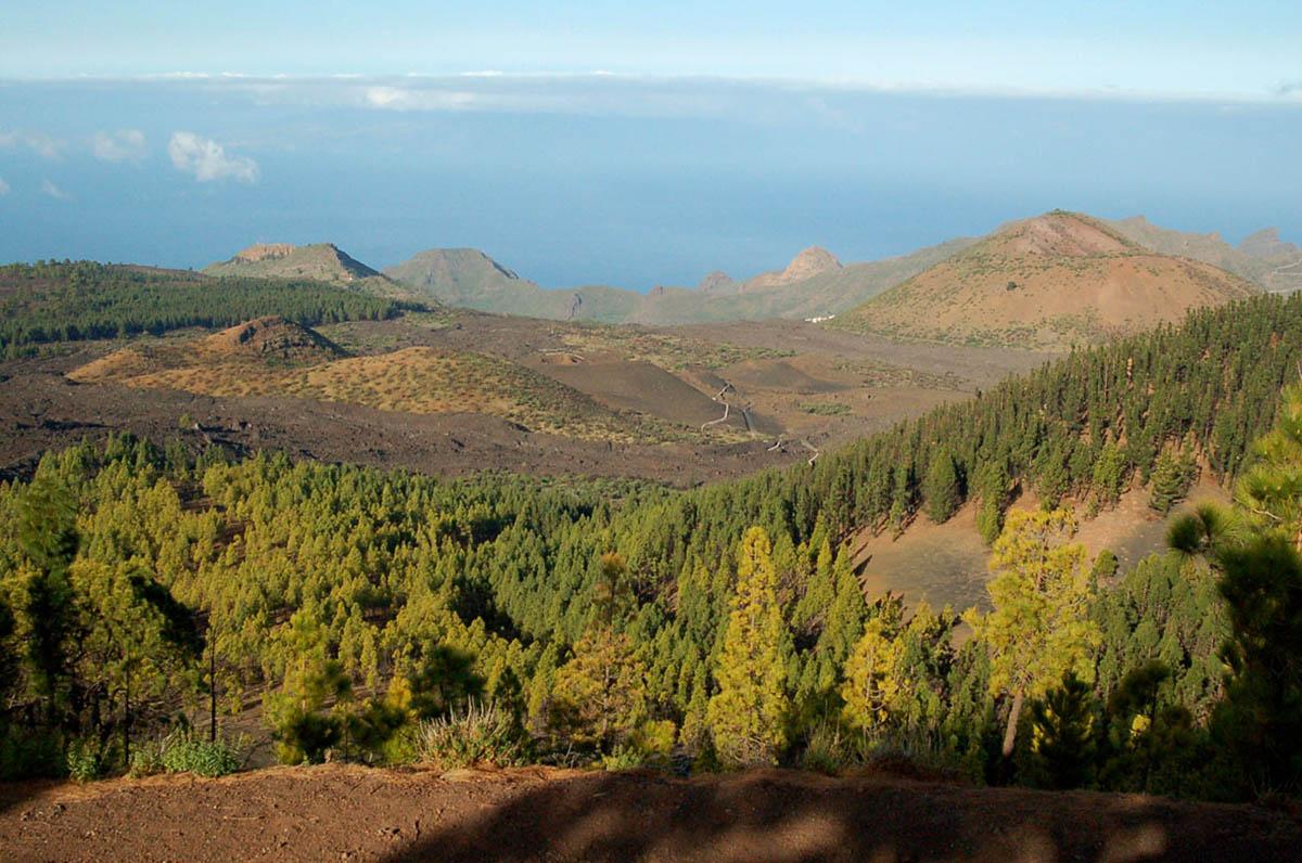 вид с вулкана Чиньеро