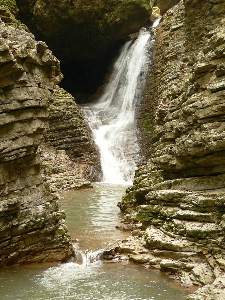 водопад Сердце Руфабго, Адыгея
