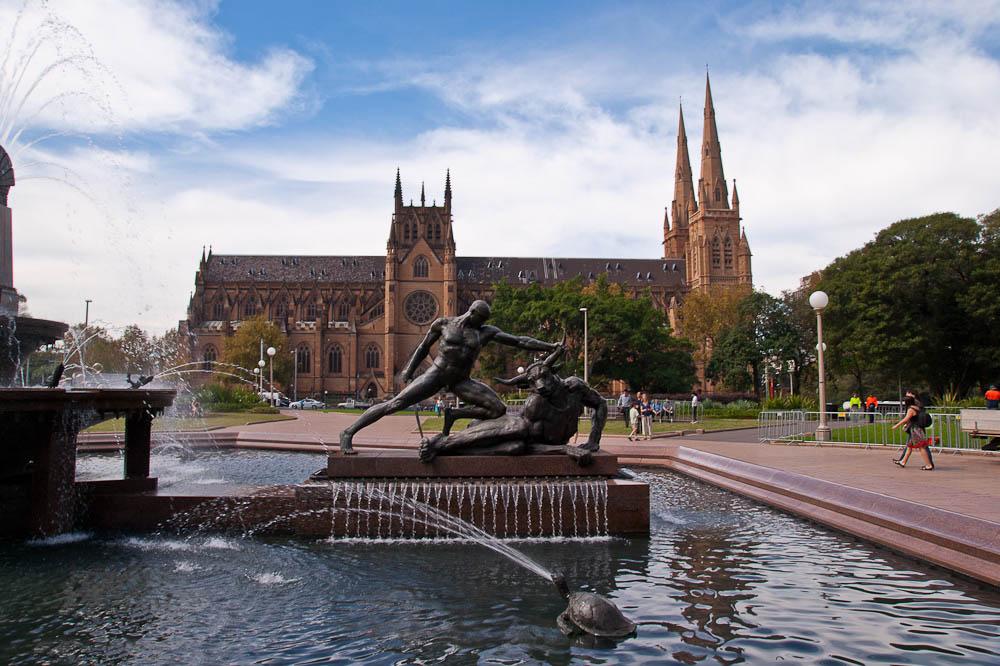 Archibald fountain, Sydney