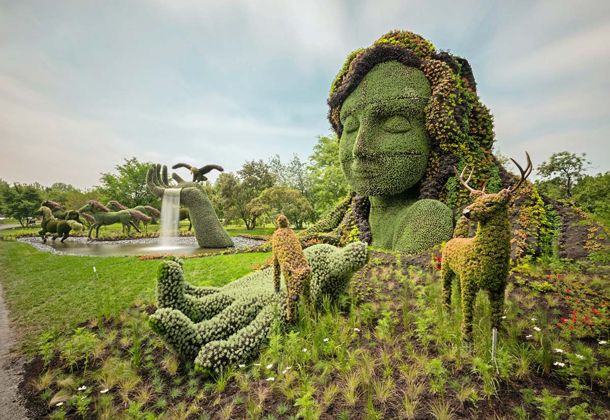 Montreal Botanical Garden in Canada