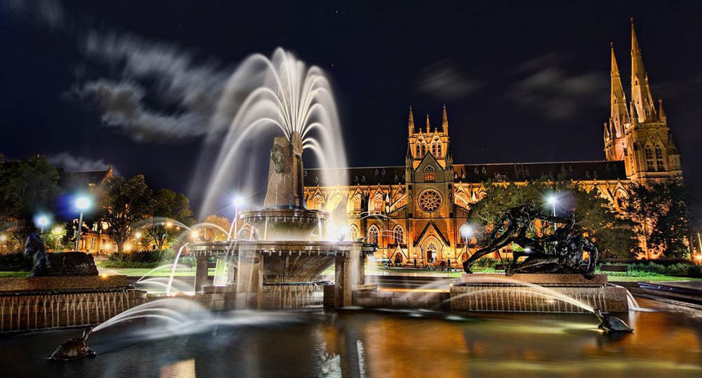 фонтан Арчибальда в Сиднее