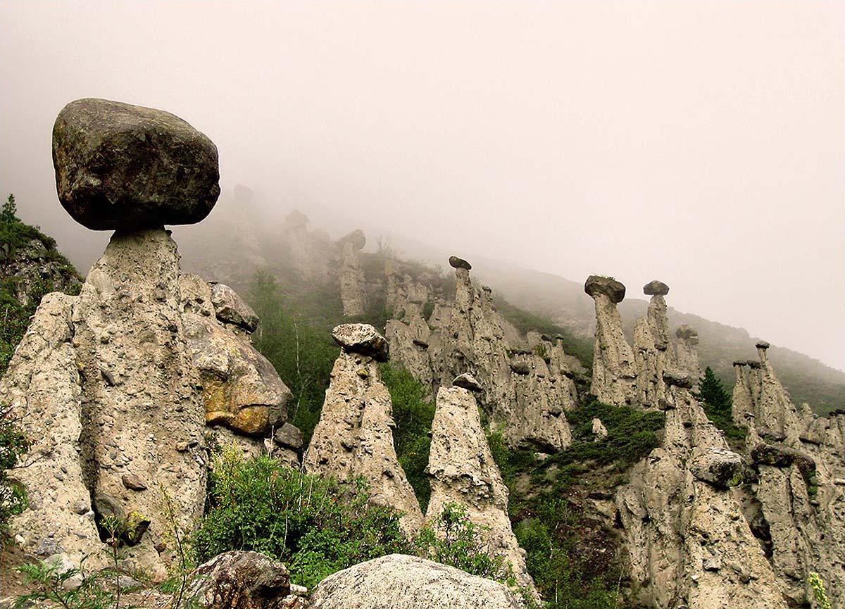 каменные грибы Ак-Курум, Алтай