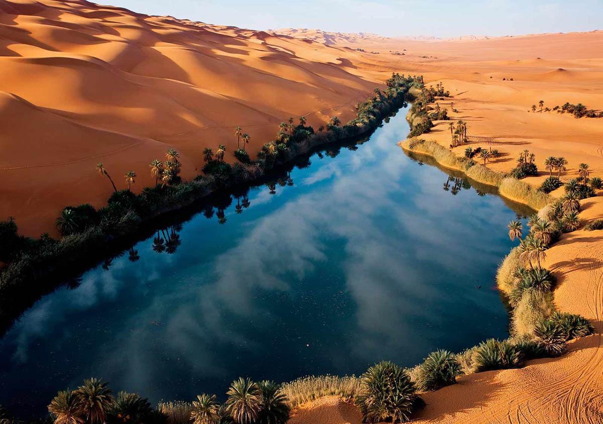 оазис Убари в пустыне Сахара