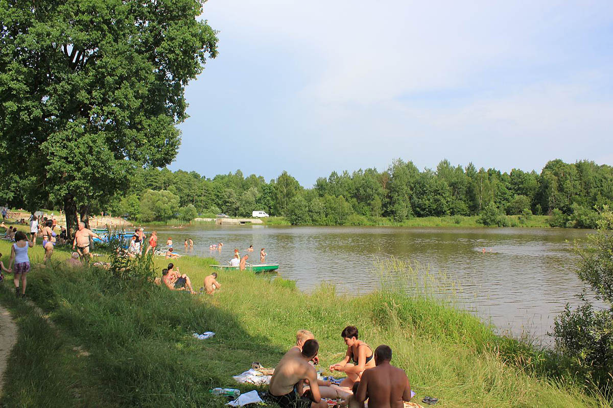 озеро санатория Пролісок в Моршине