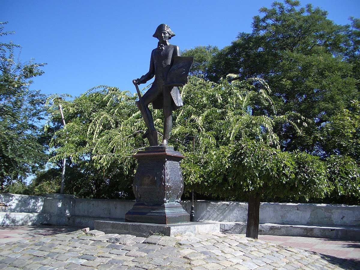 памятник де Рибасу, Одесса
