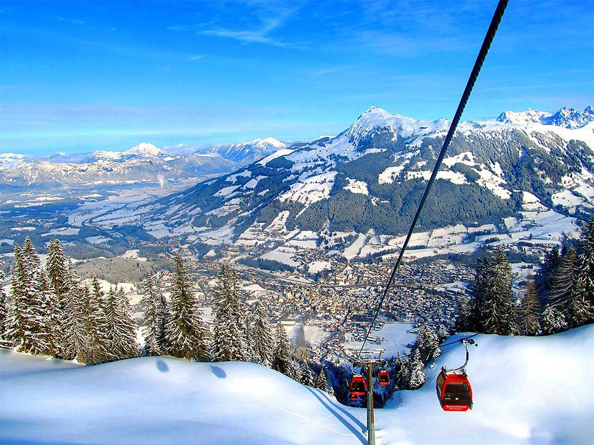 ski resort Kitzbuhel, Austria