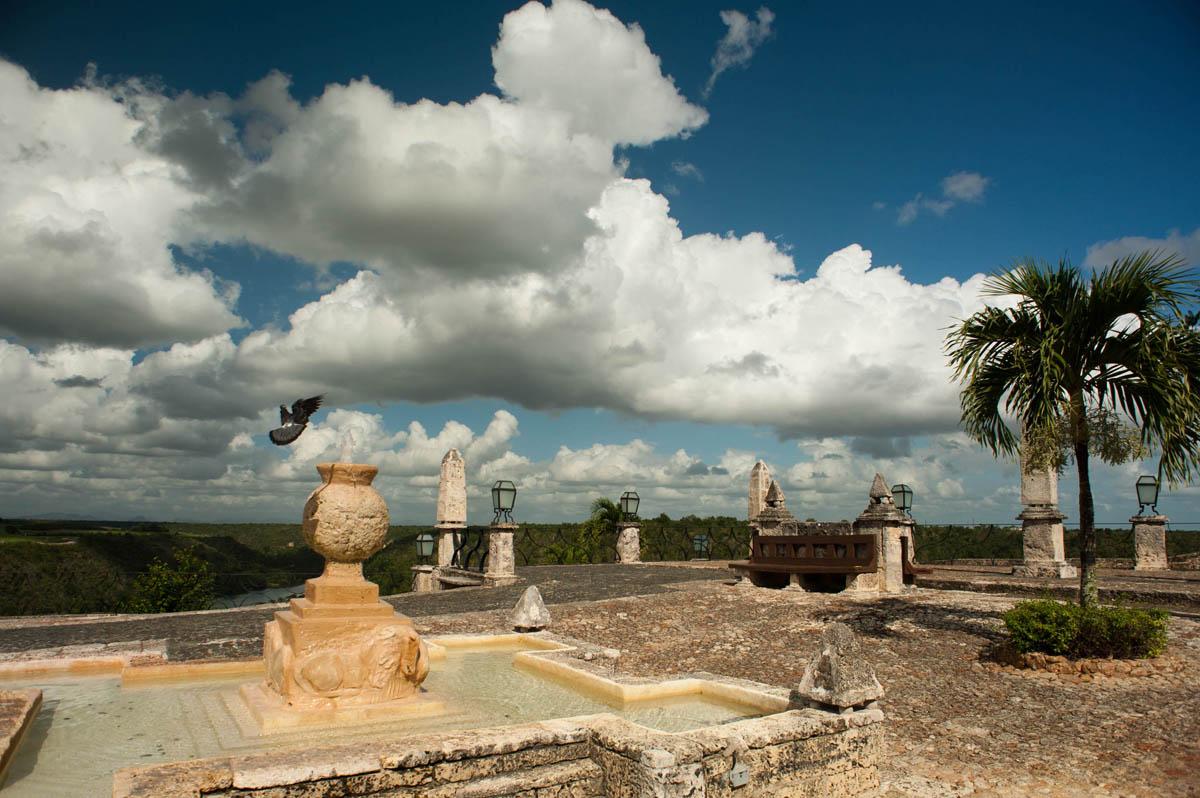 A terrace view in Altos de Chav?n. Casa de Campo, La Romana, Dominican Republic
