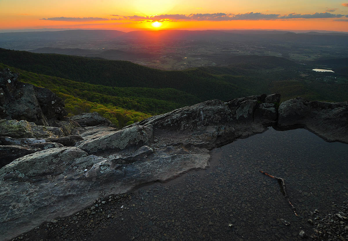 Sunset from Little Stony Man, Shenandoah