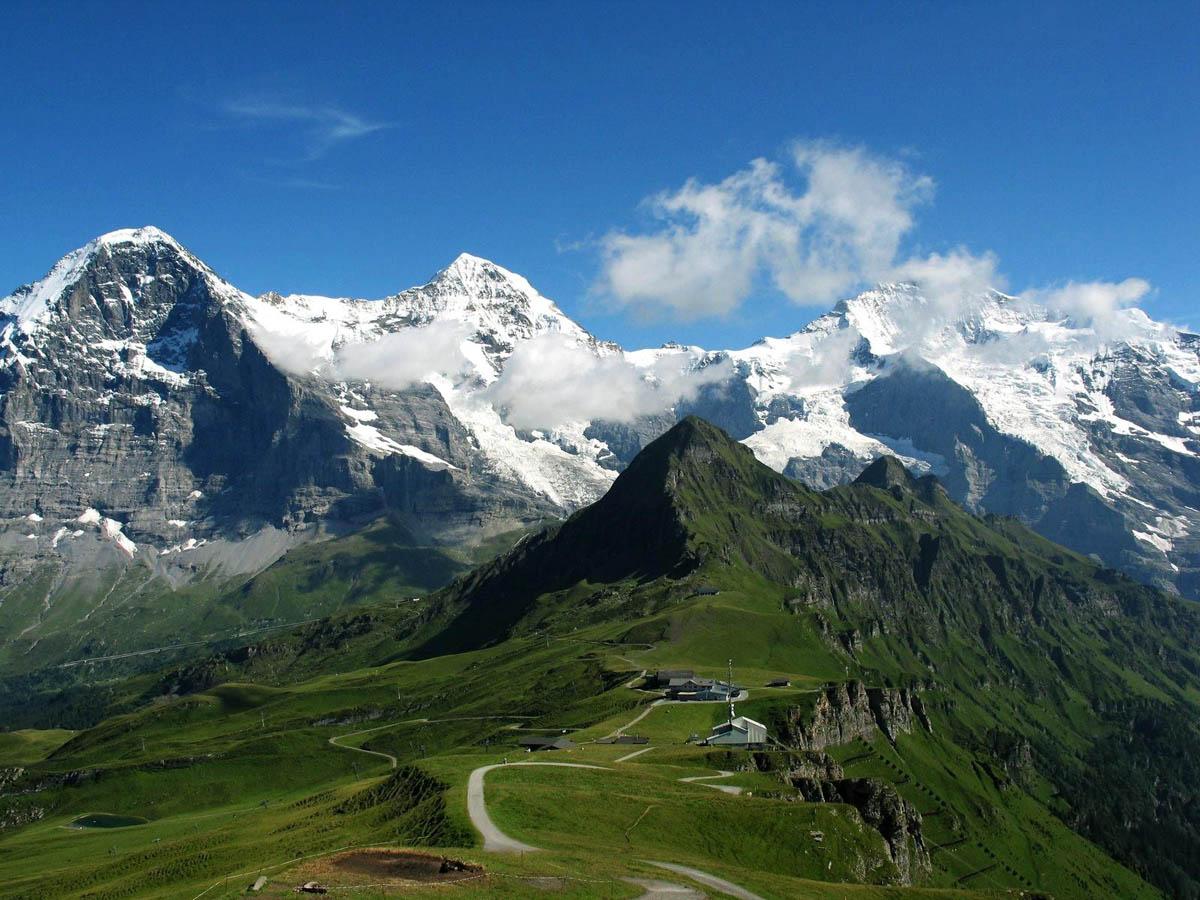 гора Юнгфрау в Швейцарии