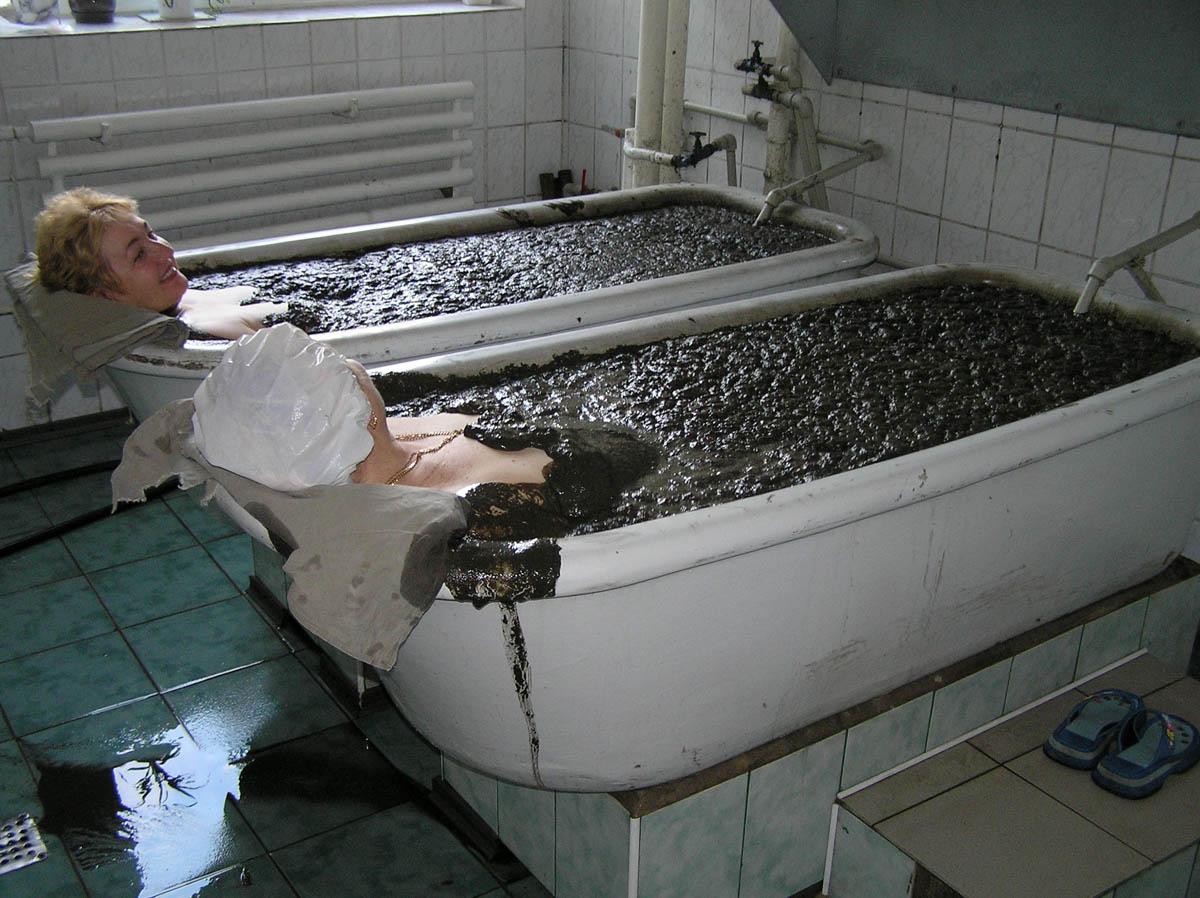 грязевая процедура в санатории