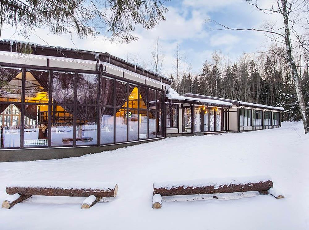 коттеджный поселок Драгунский ручей зимой