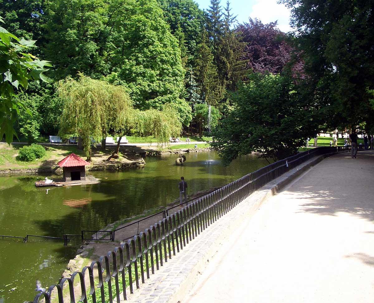 озеро в Стрыйском парке