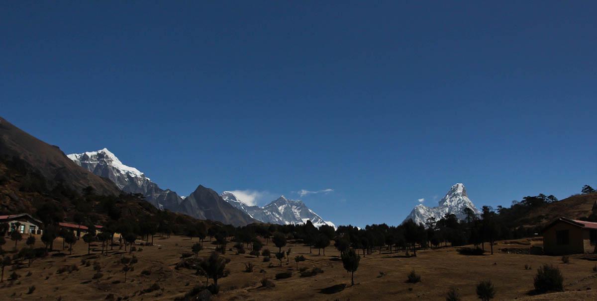 панорама гор в нацпарке Сагарматха