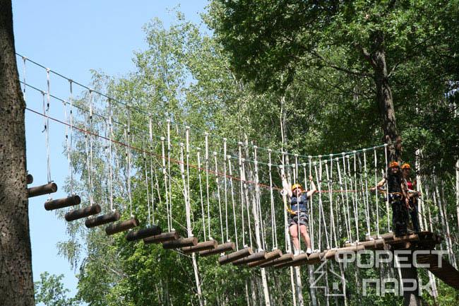 веревочный мостик в Форест парке