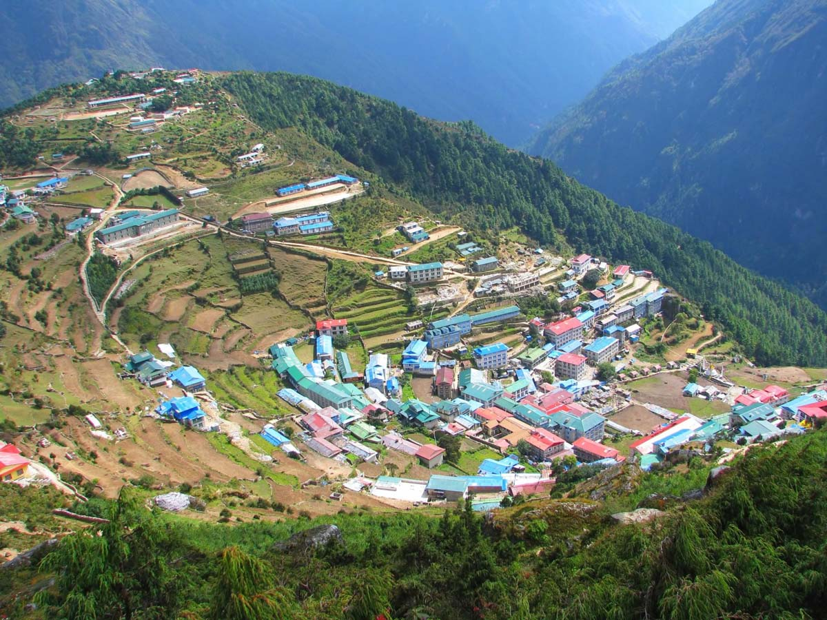 village in Sagarmatha National Park, Himalayas, Nepal